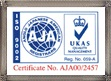 Our Certificate AJA
