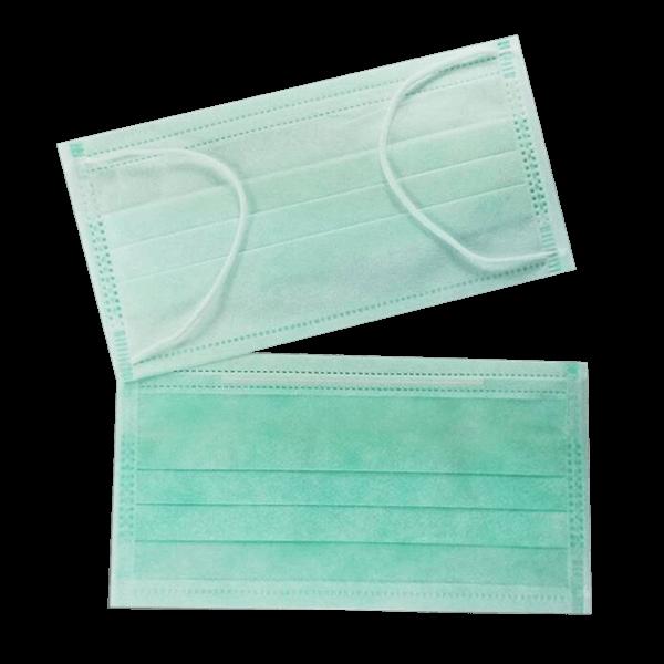 หน้ากากอนามัย 3 ชั้น สีเขียว
