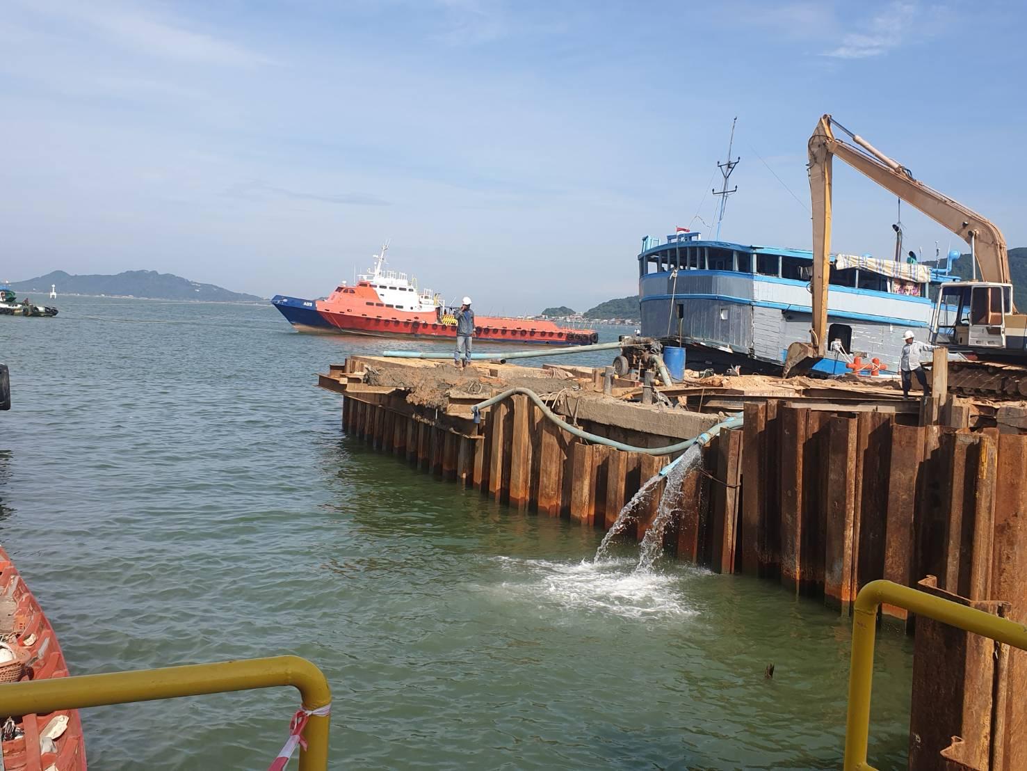 ปิดน้ำชั่วคราว ช่อมท่าขึ้นเรือ