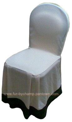 ผ้าคลุมเก้าอี้พลาสติก จีบคู่หน้า แบบต่อชาย