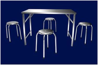 Stainless Steel Table - Chair