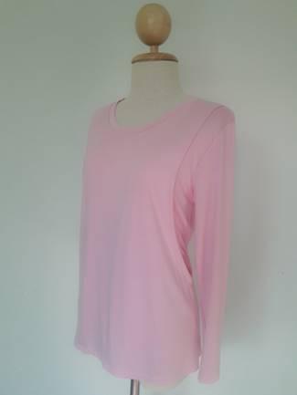 เสื้อให้นมแขนในตัว สีชมพู