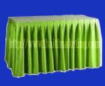 ผ้าคลุมโต๊ะจีบรอบตัวสีเขียว