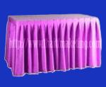 ผ้าคลุมโต๊ะจีบรอบตัวสีม่วง