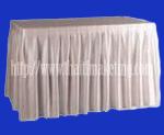 ผ้าคลุมโต๊ะจีบรอบตัวสีขาว