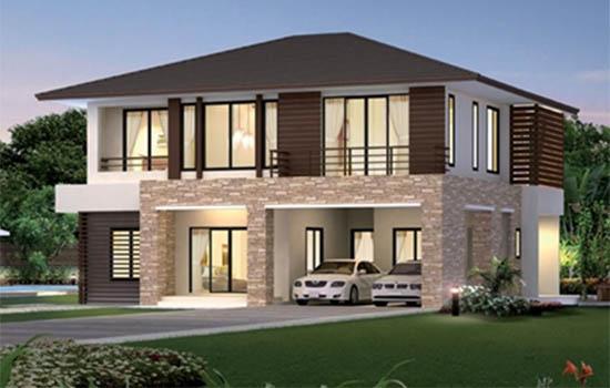 รับออกแบบบ้าน 2 ชั้น