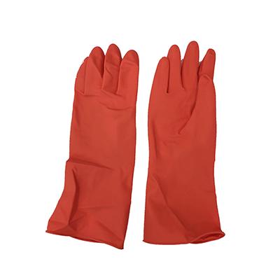 ถุงมือยางสีส้ม