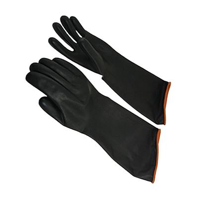 ถุงมือยางดำกันสารเคมี