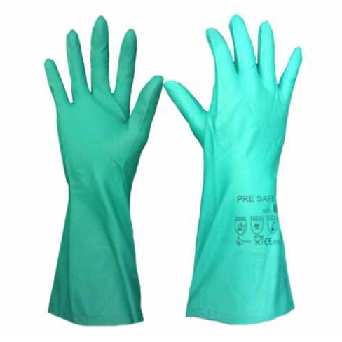 ถุงมือยางไนดตรกันสารเคมี