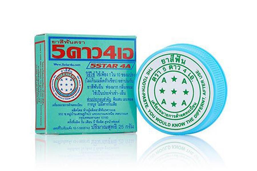 ยาสีฟัน 5ดาว4เอ ตลับ 25 กรัม แพค 12 ตลับ