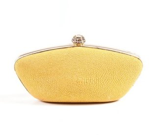 Luxury Yellow Clutch Bag