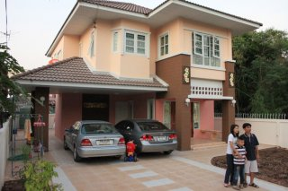 Two story house building