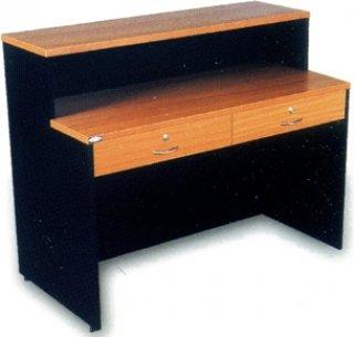 โต๊ะทำงาน 2 ชั้นวาง 2 ลิ้นชัก