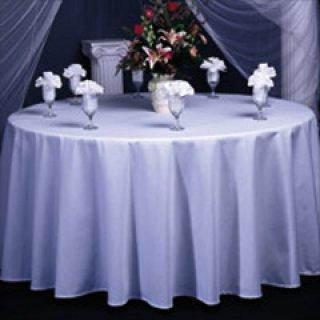 ผ้าคลุมโต๊ะกลม จีบธรรมชาติ