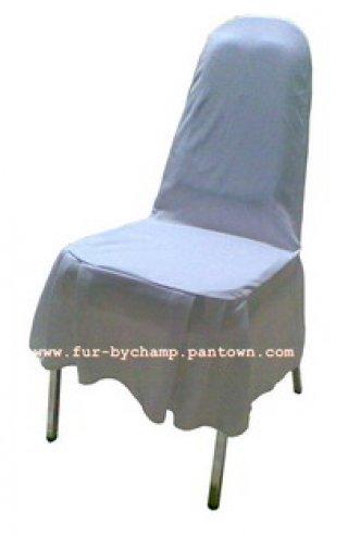 ผ้าคลุมเก้าอี้จัดเลี้ยง ปล่อยชายครึ่งตัว