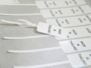 สติ๊กเกอร์กระดาษขาวเงา