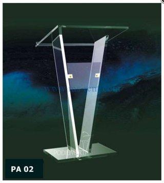 โพเดียมอะคริลิกใส PA 02