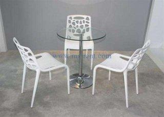 ชุดโต๊ะ Honey เก้าอี้สีขาว