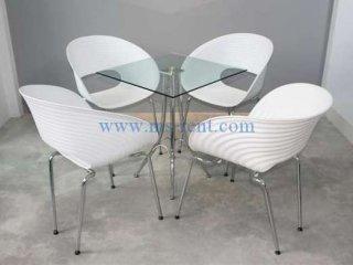 ชุดโต๊ะ Daily เหลี่ยมเก้าอี้ก้นหอย
