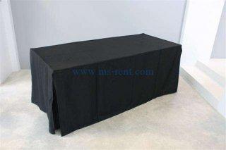 โต๊ะเหลี่ยม คลุมผ้าสีดำ