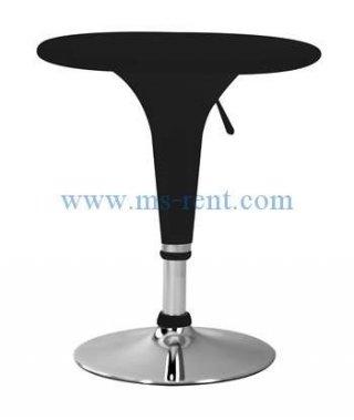 โต๊ะบาร์สูงไฟเบอร์สีดำ