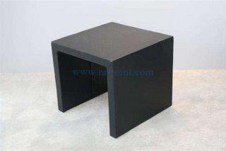 โต๊ะกลางตัวยูคว่ำ หุ้มหนังสีดำ