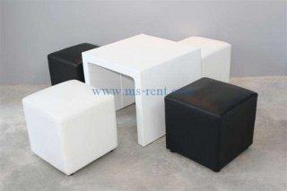 ชุดโต๊ะกลางตัวยูคว่ำสีขาว