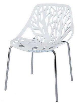 เก้าอี้ pp สีขาว ลายใบไม้