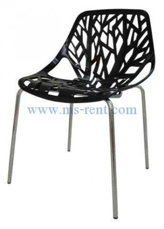 เก้าอี้ pp สีดำ ลายใบไม้