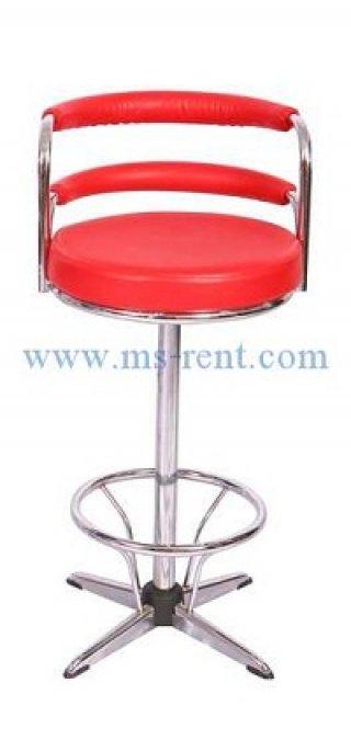 เก้าอี้สตูลบาร์ทรงสูง สีแดง