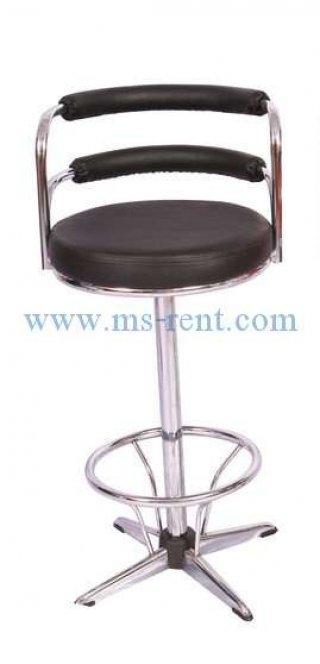 เก้าอี้สตูลบาร์ทรงสูง สีดำ