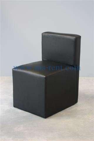 เก้าอี้สตูลพนักพิงสีดำ