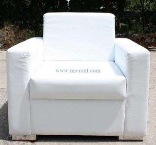 โซฟา VIP สีขาว 1 ที่นั่ง