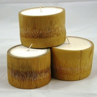 Natural Soy Wax Bamboo Candle