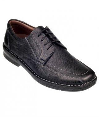รองเท้าหนังสีดำ รุ่น DISCOVERY