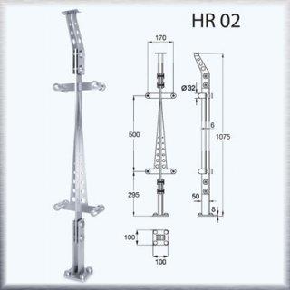 ราวบันได HR02