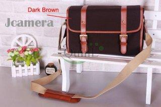 กระเป๋ากล้อง Vintage DSLR Camera bag สี Dark Brown Size L