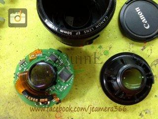 ซ่อมเลนส์ Canon 50mm