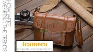 กระเป๋ากล้อง Vintage Leather Shoulder