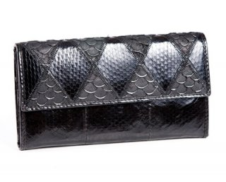 black purse with snake leather
