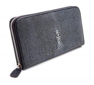 กระเป๋าเงินหนังสำดำมีซิป