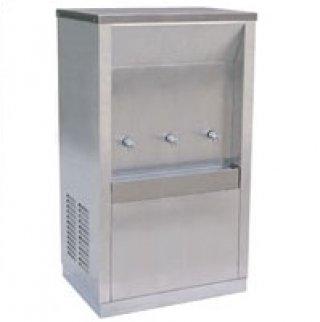 ตู้ทำน้ำเย็นแบบต่อท่อประปา 3 ก๊อก (MC-3P) หน้าเว้า