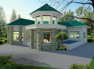 รับออกแบบบ้านจัดสรร