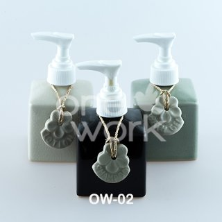 Rectangular Ceramic Shampoo Bottle