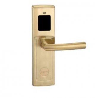 ระบบล็อคประตูโรงแรม สีทอง ด้ามจับกลม