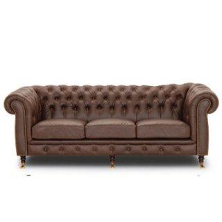 เก้าอี้โซฟาหนังสไตล์วินเทจ CAMBRIDGE