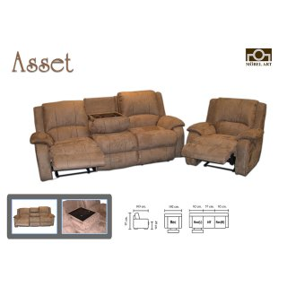 เก้าอีโซฟาหนังแท้ ASSET
