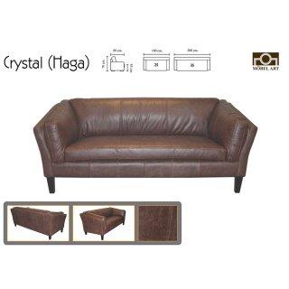 โซฟาหนังแท้ CRYSTAL (HAGA)