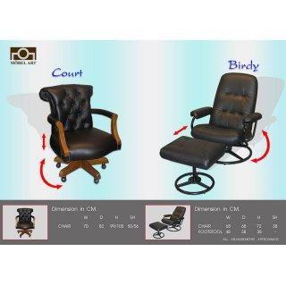 เก้าอี้หนังแท้ COURT