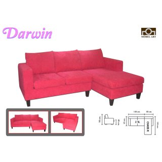 โซฟาหนังแท้รูปตัวแอล DARWIN